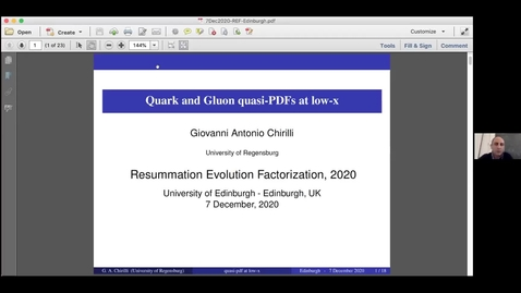 Thumbnail for entry REF2020: Giovanni Chirilli- Quark and Gluon quasi-PDFs at low-x