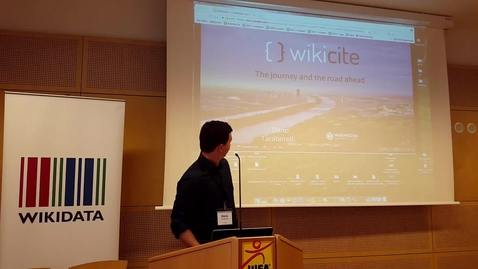 Thumbnail for entry WikiCite: The journey and the road ahead - Dario Taraborelli (Wikimedia Research)