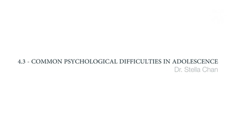 Thumbnail for entry Clinical Psychology of Children and Young People - Common psychological difficulties in adolescence