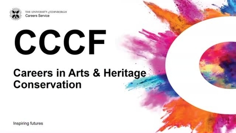 Thumbnail for entry CCCF 2019: Careers in Arts and Heritage Conservation