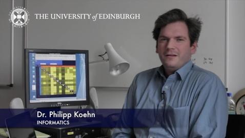 Thumbnail for entry Philipp Koehn - Informatics - Research In A Nutshell - School of Informatics -19/03/2013