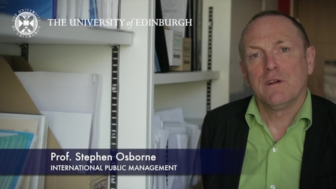 Thumbnail for entry Stephen Osborne-International Public Management-Research In A Nutshell-Business School-16/11/2012