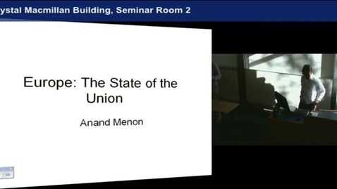 Thumbnail for entry Anand Menon (University of Birmingham)