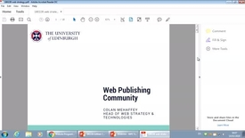 Thumbnail for entry University web strategy update - Web Publishers March 2018
