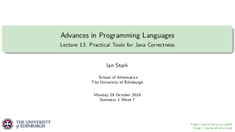 Thumbnail for entry Practical Tools for Java Correctness