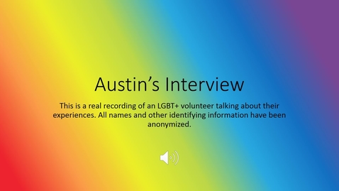 Thumbnail for entry LGBT Healthcare 101 - Austin's Story