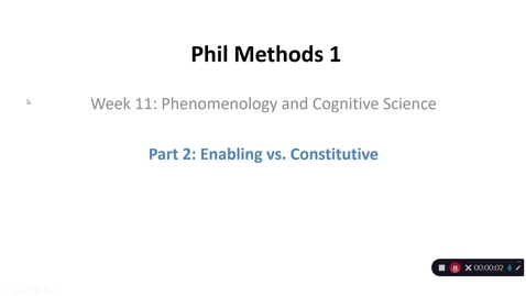 Thumbnail for entry Phil Methods 1 - Week 11 - Part 2