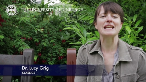 Thumbnail for entry Dr Lucy Grig - Popular Culture in the Ancient World- Research in a Nutshell