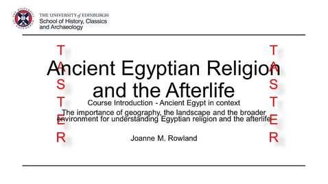 MSc Ancient Worlds: Ancient Egyptian Religion and the Afterlife