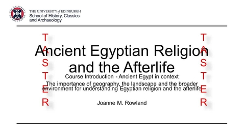 Thumbnail for entry MSc Ancient Worlds: Ancient Egyptian Religion and the Afterlife