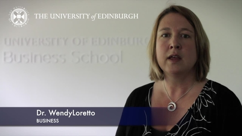 Thumbnail for entry Wendy Loretto-Business-Research In A Nutshell-Business School-29/06/2012