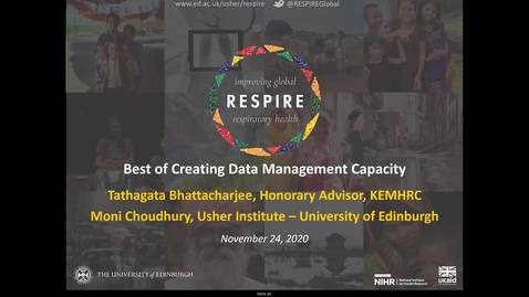 Thumbnail for entry RESPIRE Showcase: Best of Creating Data Management Capacity