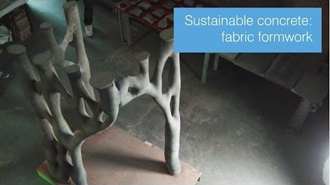Thumbnail for entry Making concrete more sustainable: fabric formwork