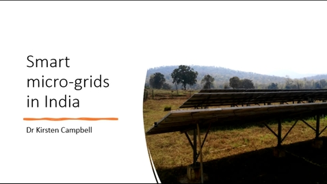 Thumbnail for entry Smart micro-grid India