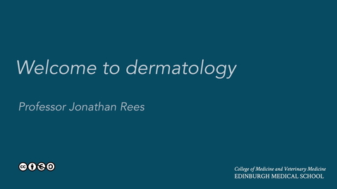 Thumbnail for entry Welcome to dermatology