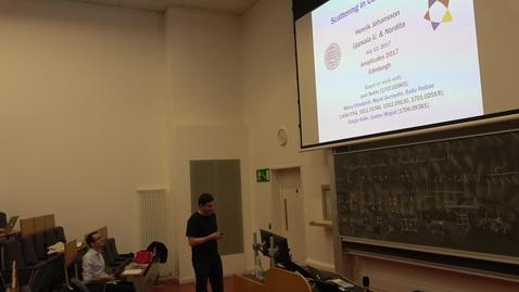 Thumbnail for entry Amplitudes 2017 Conference: Henrik Johansson - Scattering in Conformal Gravity