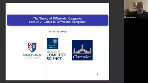 Thumbnail for entry Jean-Simon Lemay  Cartesian differential categories.