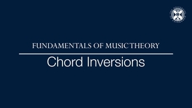 Thumbnail for entry Fundamentals of music theory - Chord inversions