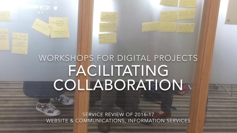 Thumbnail for entry Workshop service showcase - Website & Communications, Learning Teaching & Web, Information Services