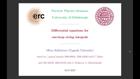 Thumbnail for entry Differential equations for one-loop string integrals