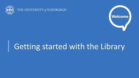 Thumbnail for entry Making the most of IT - Getting started with the Library