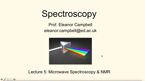 Thumbnail for entry Chem1 Spectroscopy Lecture 5 Part 1 Microwave Spectroscopy