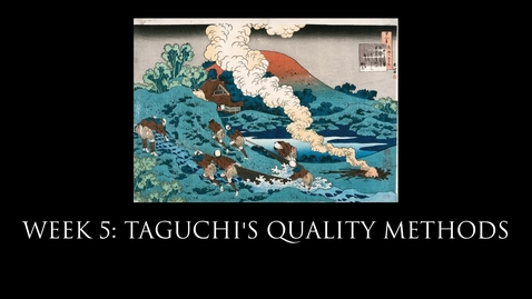 Thumbnail for entry Taguchi Contributions to Quality Management
