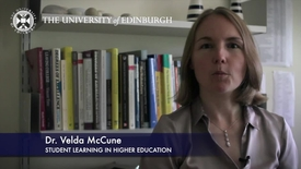 Thumbnail for entry Velda Mccune- Student Learning in Higher Education -Research In A Nutshell-The Moray House School of Education-03/11/2012