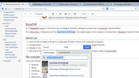 Thumbnail for entry Editing Wikipedia using Visual Editor: Part 1.4 Adding links