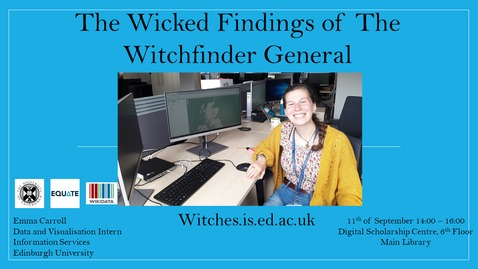 Thumbnail for entry The Wicked Findings of the Witchfinder General -  Putting Scotland's accused witches on the map using linked open data