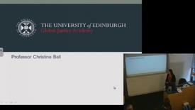 Thumbnail for entry Christine Bell (University of Edinburgh); Tim Hayward (University of Edinburgh)