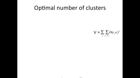 Thumbnail for entry Optimal number of clusters