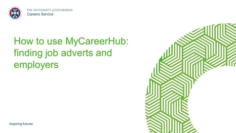 Thumbnail for entry MyCareerHub: Finding Job Adverts and Employers