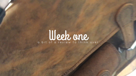 Thumbnail for entry Week one - a chance to drink coffee and review