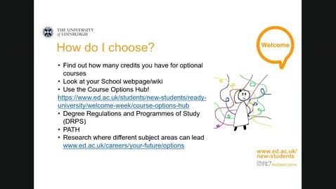 Thumbnail for entry How to choose your optional courses