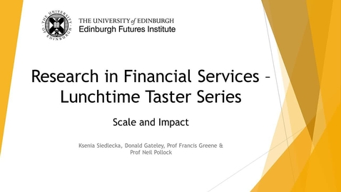 Thumbnail for entry Research in Financial Services - Scale and Impact