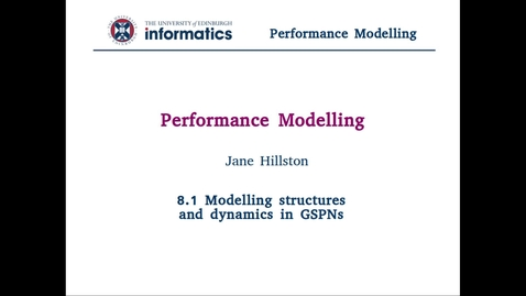 8.1 Modelling structures and dynamics in GSPNs