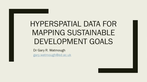 Thumbnail for entry Hyperspatial resolution satellite data for SDG mapping