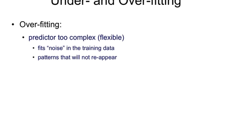 Thumbnail for entry Overfitting and Underfitting