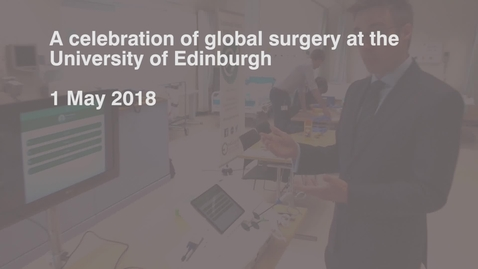 Thumbnail for entry Global surgery event: laparoscopic simulator