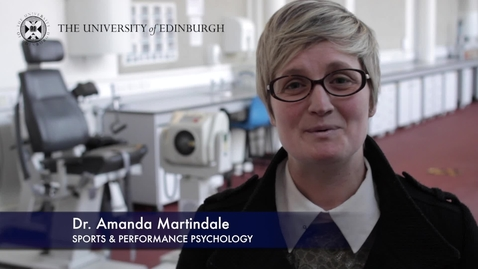 Thumbnail for entry Amanda Martindale-Sports & Performance Psychology-Research In A Nutshell-The Moray House School of Education-27/05/2015