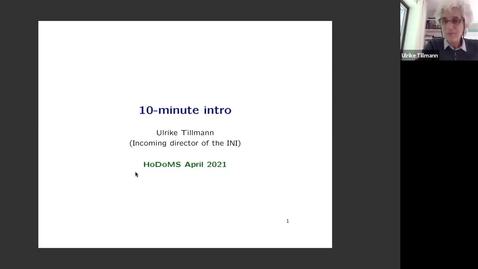 Thumbnail for entry HoDoMS 2021: Ulrike Tillmann