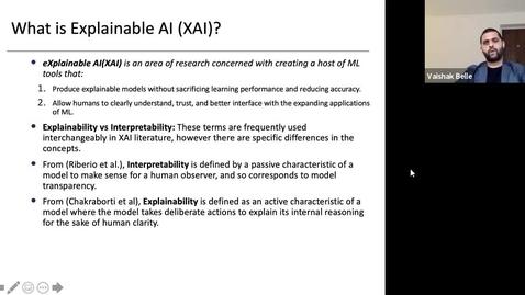 Thumbnail for entry XAI Lecture Recording - Preface to XAI (Part 2)