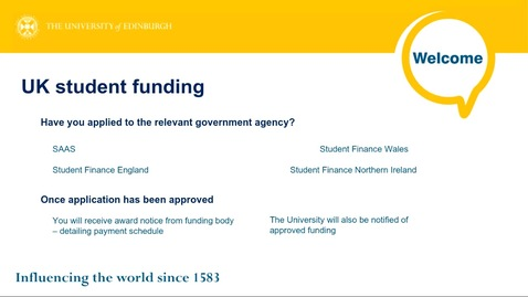 Thumbnail for entry How to get guidance on student funding and fee levels