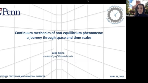 Thumbnail for entry Continuum mechanics of non-equilibrium phenomena: a journey through space and time scales - Celia Reina