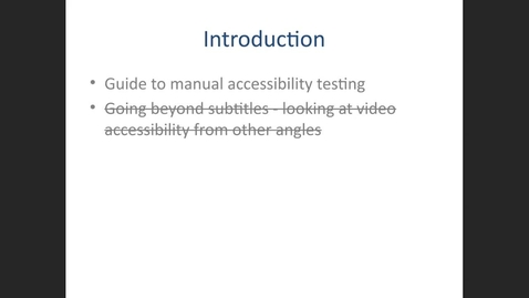 Thumbnail for entry Guide to manual accessibility testing