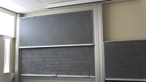 Ruth Britto - PPT Seminar: Cuts of Feynman Integrals
