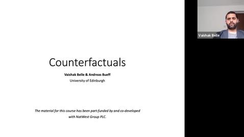 Thumbnail for entry XAI Lecture Recording - Counterfactuals (Part 1)