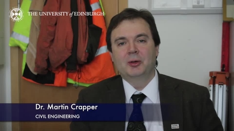 Thumbnail for entry Martin Crapper- Civil Engineering- Research In A Nutshell - School of Engineering -21/05/2015