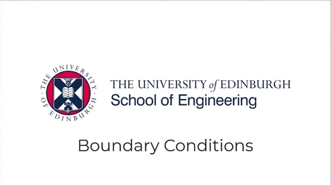 Thumbnail for entry Partial Differential Equations Lecture 10 - Boundary Conditions
